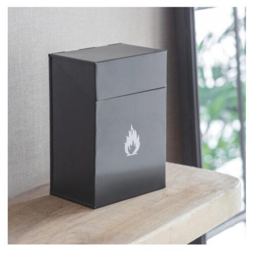 firelighter box on mantelpiece