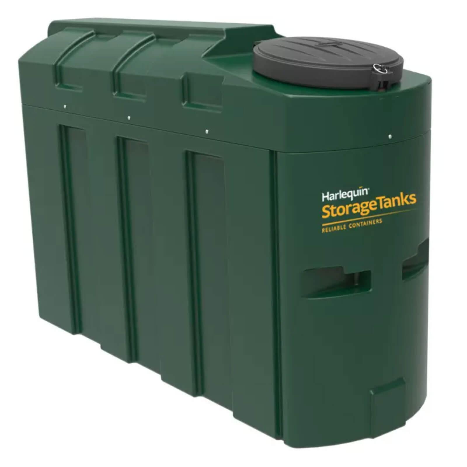 1000 litre bunded green plastic oil tank