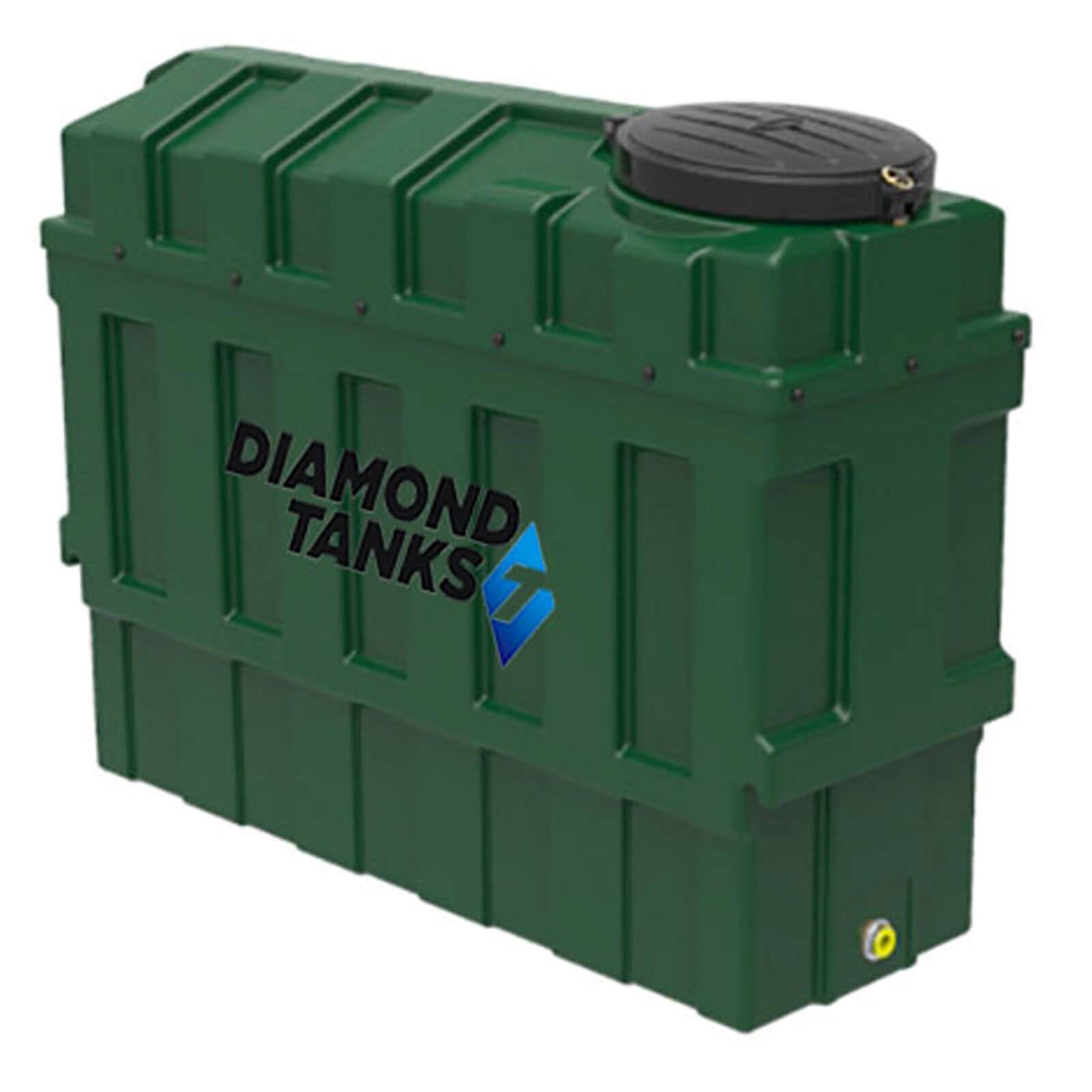 1000 litre super slimline green plastic bunded oil tank