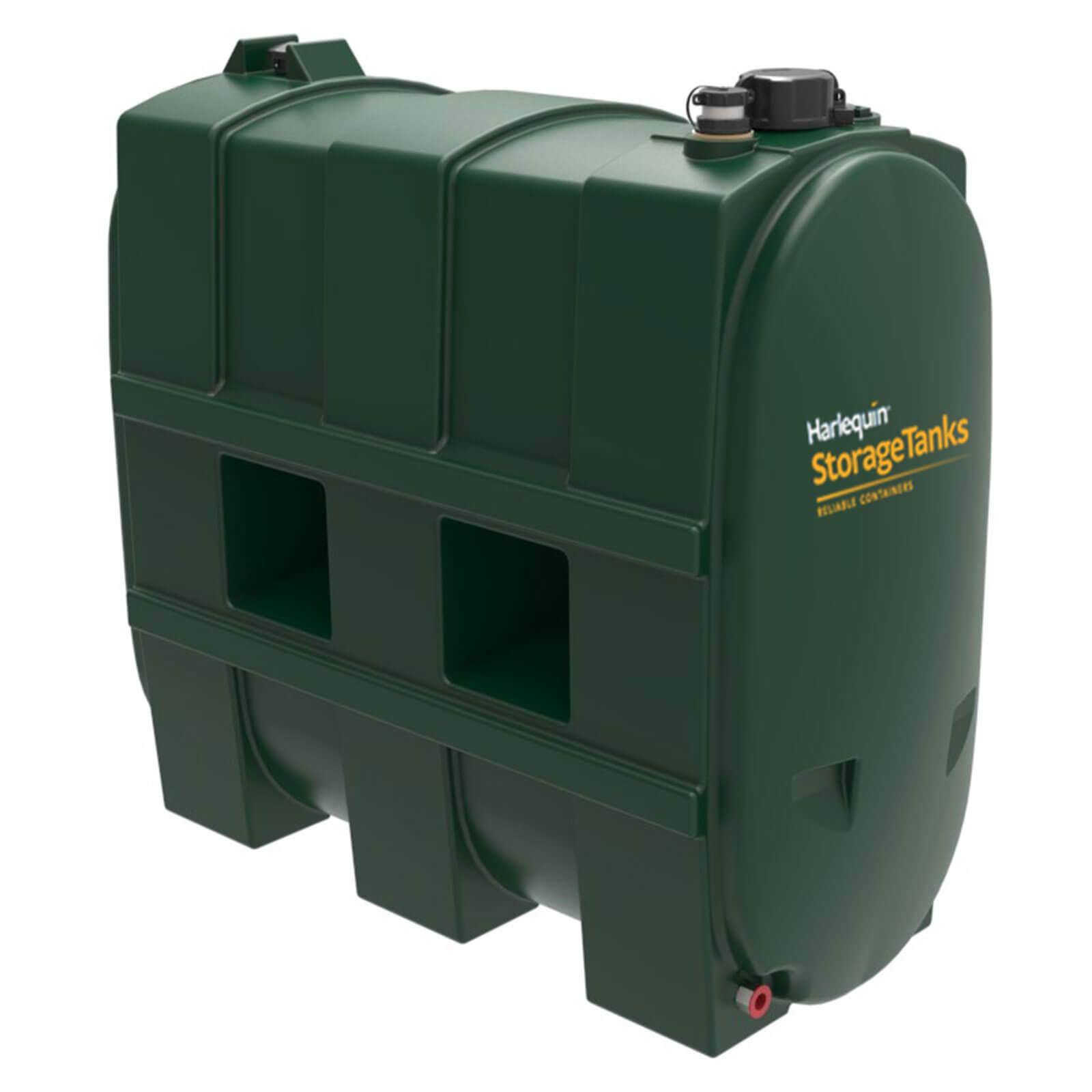 1100 litre single skin oil tank green plastic