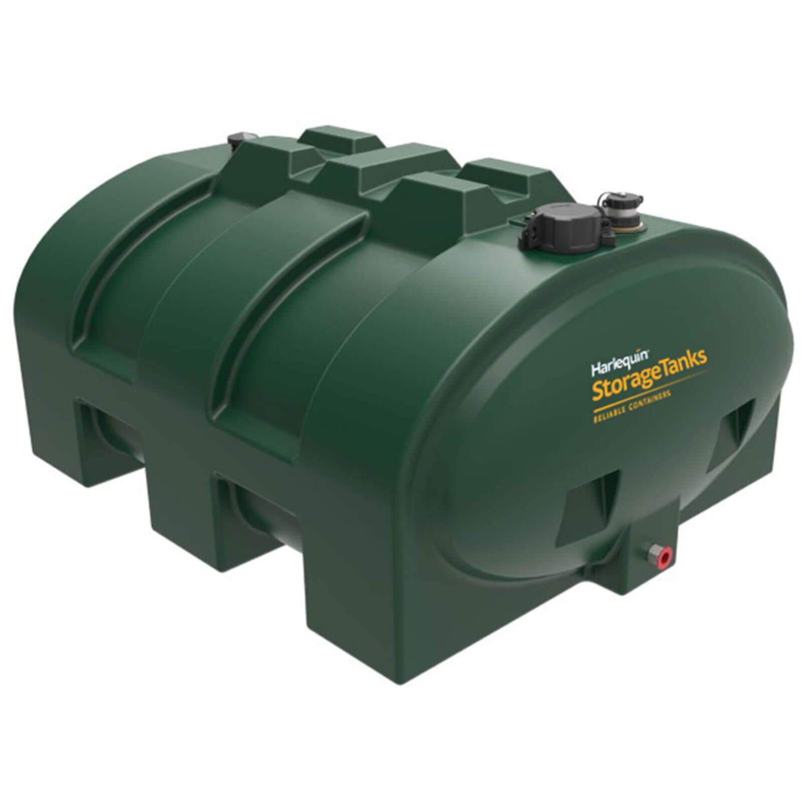 1200 litre low profile green plastic tank