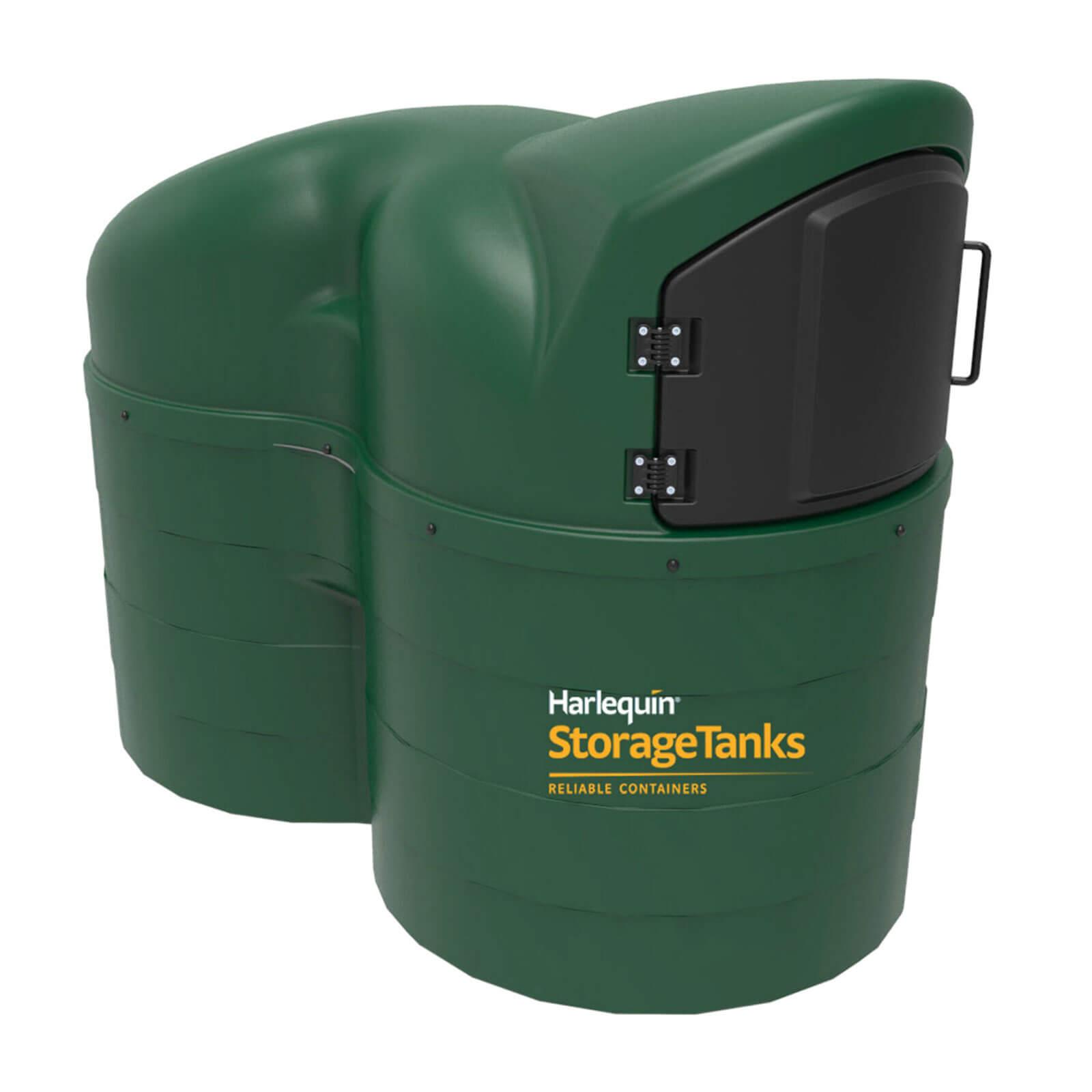 2500 litre fuel station bunded green plastic
